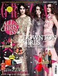 Cara Theobold, Lily James, Sophie McShera on the cover of Grazia (United Kingdom) - December 2012