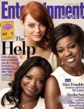 Emma Stone, Viola Davis on the cover of Entertainment Weekly (United States) - August 2011