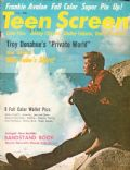 Troy Donahue on the cover of Teen Screen (United States) - August 1961