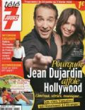 Bérénice Bejo, Jean Dujardin on the cover of Tele 7 Jours (France) - January 2012