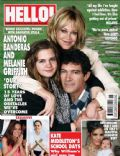 Antonio Banderas, Melanie Griffith on the cover of Hello (United Kingdom) - April 2010