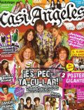 Eugenia Suarez and Nicolas Riera, Gastón Dalmau, Juan Pedro Lanzani, María Eugenia Suárez, Mariana Espósito, Nicolas Riera on the cover of Casi Angeles (Argentina) - July 2008