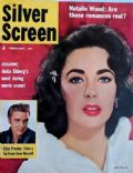 Elizabeth Taylor on the cover of Silver Screen (United States) - February 1957