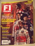 Fernando Alonso, Jenson Button, Lewis Hamilton, Mark Webber, Sebastian Vettel on the cover of F1 Racing (United Kingdom) - December 2010
