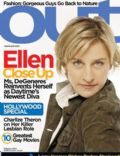 Ellen DeGeneres on the cover of Out (United States) - February 2004