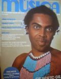 Gilberto Gil on the cover of Musica (Brazil) - September 1975