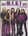 Brad Whitford, Joe Perry, Joey Kramer, Steven Tyler, Tom Hamilton on the cover of M E A T (Canada) - April 1993