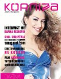 Dafina Rexhepi on the cover of Korniza Magazine (Kosovo) - June 2011