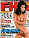 Andreia Rodrigues on the cover of Fhm (Portugal) - January 2006