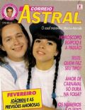 Mara Maravilha, Marcelo Rodrigues (2) on the cover of Correio Astral (Brazil) - February 1992