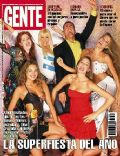 Andrea Del Boca, Carolina Ardohain, Catherine Fulop, Dolores Barreiro, Susana Giménez on the cover of Gente (Argentina) - December 2001