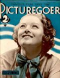 Myrna Loy on the cover of Picturegoer (United Kingdom) - February 1935