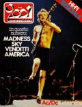 Angus Young on the cover of Ciao 2001 (Italy) - November 1980