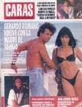 Andrea Bonelli, Gerardo Romano on the cover of Caras (Argentina) - November 1992