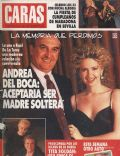 Andrea Del Boca on the cover of Caras (Argentina) - November 1992