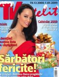 Andreea Raicu on the cover of TV Satelit (Romania) - December 2008