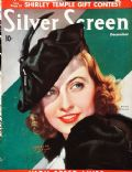 Barbara Stanwyck, Marland Stone on the cover of Silver Screen (United States) - December 1936