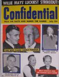 Clark Gable on the cover of Confidential (United States) - July 1955