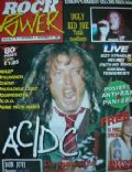 Angus Young on the cover of Rock Power (Germany) - November 1992