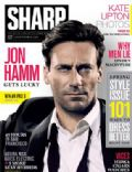 John Hamm on the cover of Sharp (Canada) - April 2012