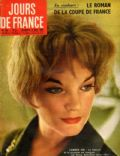 Romy Schneider on the cover of Jours De France (France) - May 1959