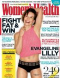 Evangeline Lilly on the cover of Womens Health (United Kingdom) - March 2014