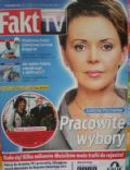 Justyna Pochanke on the cover of Fakt TV (Poland) - June 2010