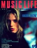 Sebastian Bach on the cover of Music Life (Japan) - December 1992