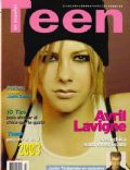 Avril Lavigne on the cover of Teen (Spain) - March 2003