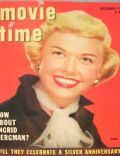 Doris Day on the cover of Movie Time (United States) - December 1952