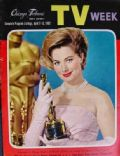 Shirley Jones on the cover of TV Week (United States) - April 1962