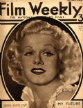 Jean Harlow on the cover of Film Weekly (United Kingdom) - November 1934