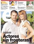 Felipe Colombo, Isabel Macedo on the cover of Clarin (Argentina) - January 2012