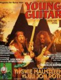Uli Jon Roth, Yngwie Malmsteen on the cover of Young Guitar (Japan) - January 1996