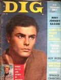 John Saxon on the cover of Dig (United States) - June 1957