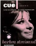 Barbra Streisand on the cover of Cue (United States) - December 1963