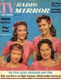 Dianne Lennon, Janet Lennon, Kathy Lennon, Peggy Lennon on the cover of TV Radio Mirror (United States) - May 1960