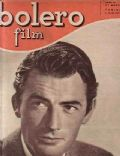 Gregory Peck on the cover of Bolero Film (Italy) - March 1949