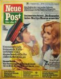 Senta Berger on the cover of Neue Post (Germany) - September 1975