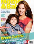 Bennu Gerede on the cover of Mother and Baby (Turkey) - November 2013