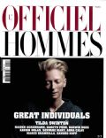 Tilda Swinton on the cover of L Officiel Hommes (France) - January 2011