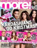 Khloé Kardashian, Kim Kardashian, Kourtney Kardashian on the cover of More (United Kingdom) - December 2012