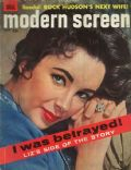 Elizabeth Taylor on the cover of Modern Screen (United States) - March 1959