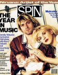 Courtney Love, Kurt Cobain on the cover of Spin (United States) - December 1992