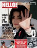 Michael Jackson on the cover of Hello (United Kingdom) - July 2009