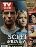 Jamie Bamber, Katee Sackhoff on the cover of TV Guide (United States) - July 2006