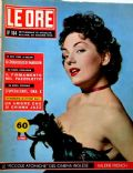 Valerie French on the cover of Le Ore (Italy) - June 1956