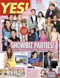 Dingdong Dantes, James Yap, Joey de Leon, Judy Ann Santos, Kim Chiu, Kris Aquino, Marian Rivera, Maricel Soriano, Nikki Gil, Roderick Paulate on the cover of Yes (Philippines) - July 2014