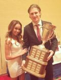 Nathan MacKinnon and Vanessa Morgan