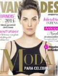 Julieta Díaz on the cover of Vanidades (Argentina) - January 2014